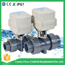 D25 Plastic PVC Toilet Shut off Electric Ball Valve Wholesale